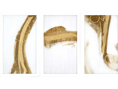 Paragon Jardine Set of 3 ''Gold Rush II'' Wall Art