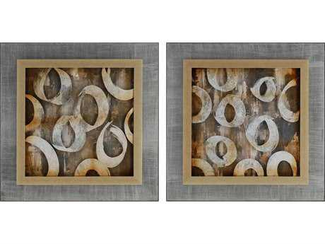 Paragon Kinder Harris Jardine Sonic Collage I Painting (Two-Piece Set)