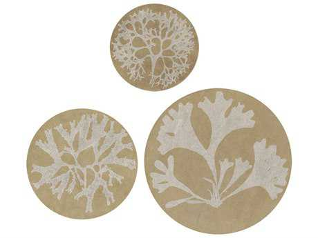 Paragon Kinder Harris Ocean Life White Metal Wall Art (Three-Piece Set)