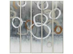 Paragon Kinder Harris Jardine Champagne Bubbles Painting (Five-Piece Set)