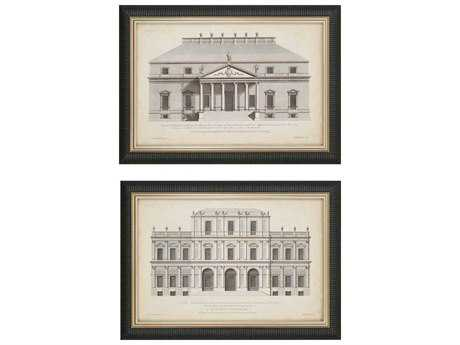 Paragon Hulsbergh Vintage Facade I Giclee Painting (Two-Piece Set)