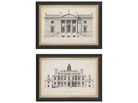 Paragon Hulsbergh Vintage Facade II Giclee Painting (Two-Piece Set)