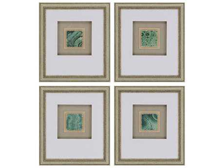 Paragon Unknown Greenery Tiles Wall Art (Four-Piece Set)