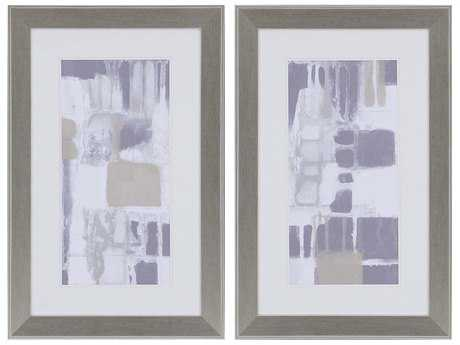 Paragon Goldberger Quadrants I Wall Art (Two-Piece Set)