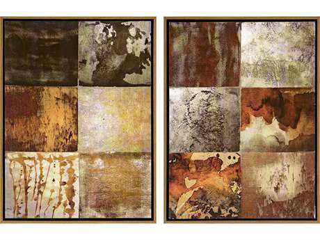 Paragon Duncan Set of 2 ''Burnished II '' Wall Art
