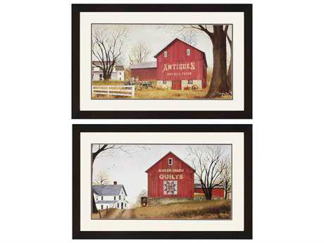 Paragon Jacobs Antique/Quilt Barns Painting (Two-Piece Set)