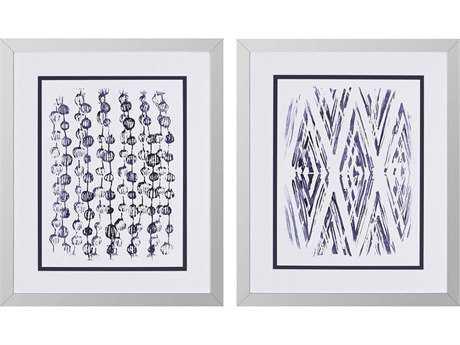 Paragon Vess ''Indigo Batik I '' Wall Art (Pack of 2)