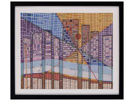 Paragon Galapon ''Modern Map of Detroit'' Wall Art