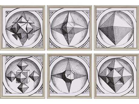 Paragon Burney Polyhedron Painting (Six-Piece Set)