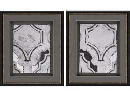 Paragon Sikes Concrete Fresco I Exclusive Giclee Painting (Two-Piece Set)