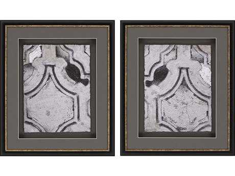 Paragon Sikes Concrete Fresco II Exclusive Giclee Painting (Two-Piece Set)