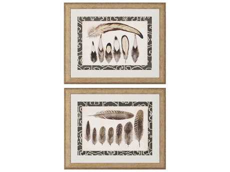 Paragon Vintage Feathers Giclee Painting (Two-Piece Set)