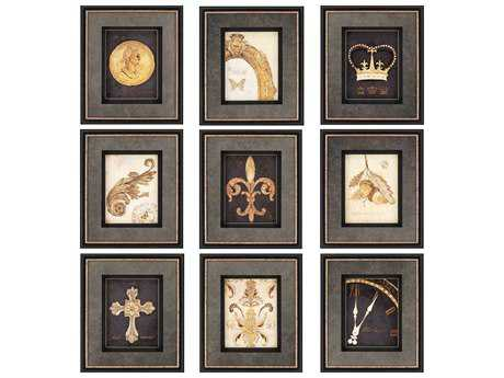 Paragon Fisk Gilded Story Shadow Box Wall Art (Nine-Piece Set)