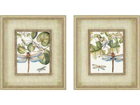 Paragon Vision Studio Dragonfly Medley Shadow Box Wall Art (Two-Piece Set)