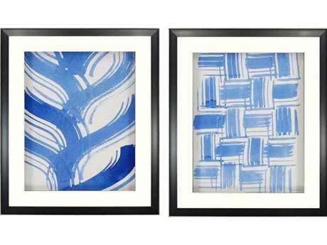 Paragon Lam Macreme Blue II Giclee Painting (Two-Piece Set)
