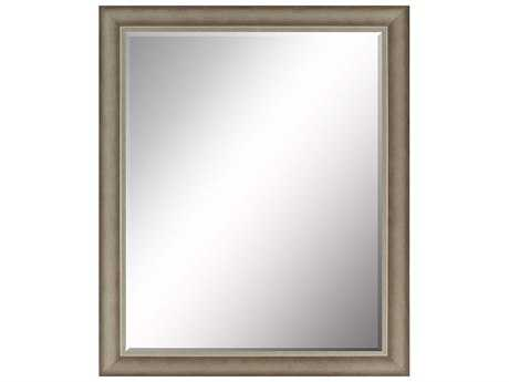 Paragon Beveled 33 x 43 Dark Wash Silver Wall Mirror