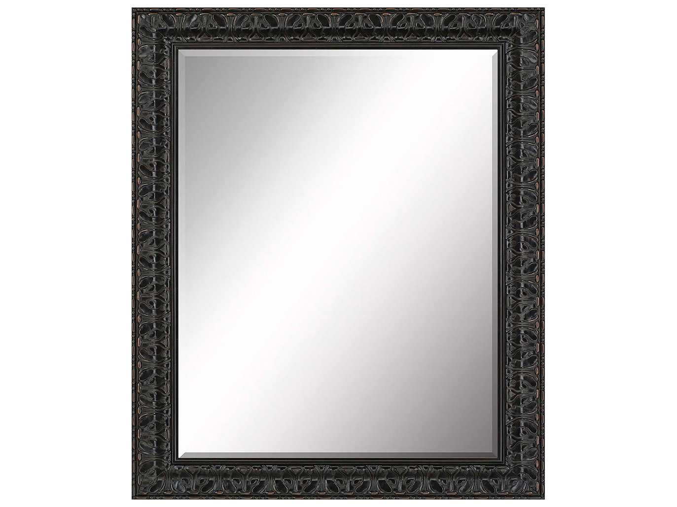 Paragon beveled 30 x 36 ornate black and gray washed wall for Mirror 30 x 36