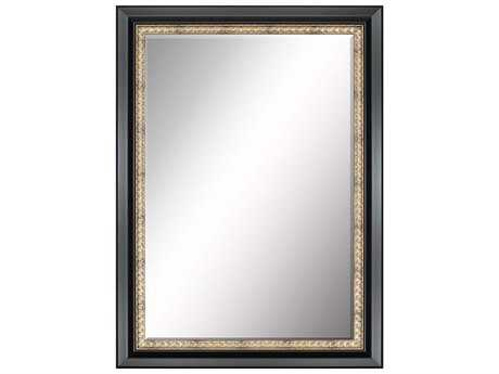 Paragon Beveled 31 x 43 Smooth Black & Antique Gold Wall Mirror