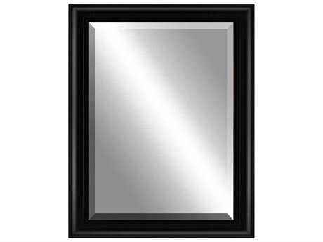 Paragon Beveled 36 x 46 Sleek Black with Ridges Wall Mirror