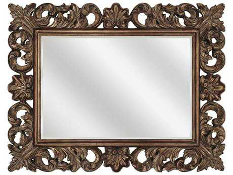 Paragon Scrolled 58 x 45 Antique Gold Wall Mirror
