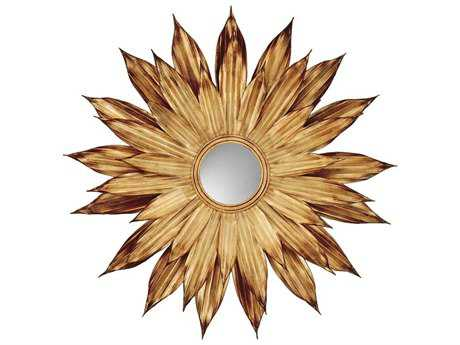 Paragon Flower Petals 48 x 48 Gold Exclusive Wall Mirror