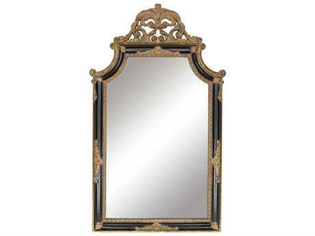 Paragon Regent 32 x 54 Black & Antique Gold Wall Mirror