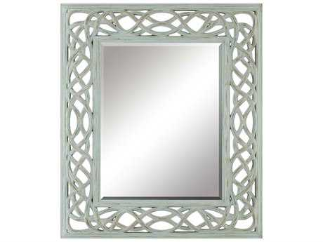 Paragon Twist Sea 35 x 41 Faded Turquoise Wall Mirror