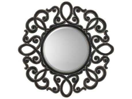 Paragon Round 41 x 41 Silver/Black Rubbed Wall Mirror