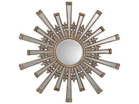 Paragon Retro Starburst 43 x 43 Antique Gold Wall Mirror