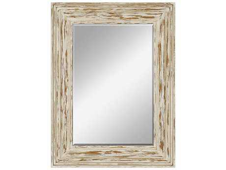 Paragon Bungalow 36 x 48 White Disterssed Paint Wall Mirror