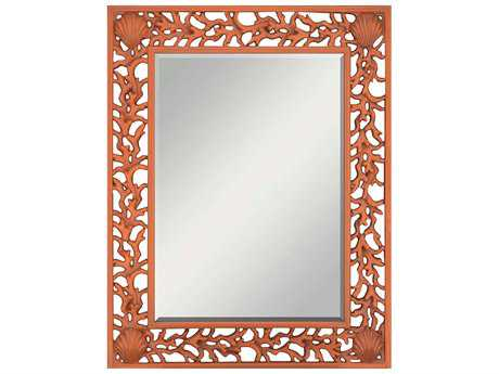 Paragon Orange Splash 38 x 49 Wall Mirror