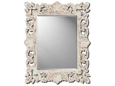 Paragon Aged White Shell 35 x 44 Wall Mirror