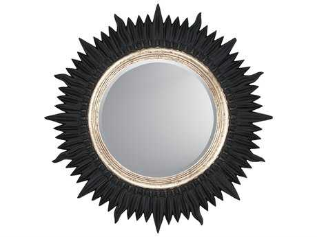 Paragon Starburst 30 x 30 Black & Silver Wall Mirror