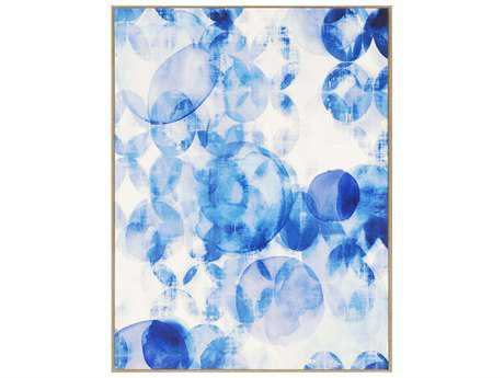 Paragon Lighthall Blue Overlapping I Giclee On Canvas Painting