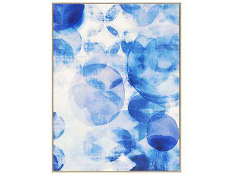 Paragon Lighthall Blue Overlapping II Giclee On Canvas Painting