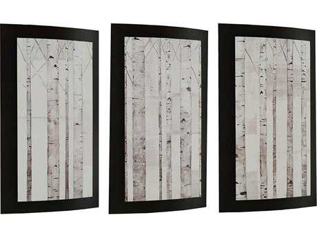 Paragon Kinder Harris Tilmon Birch Trees - Convex Painting (Three-Piece Set)