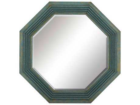 Paragon Susan 32'' W x 32'' H Turquoise Wall Mirror