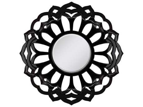 Paragon Black Beauty 39'' Round Black Wall Mirror