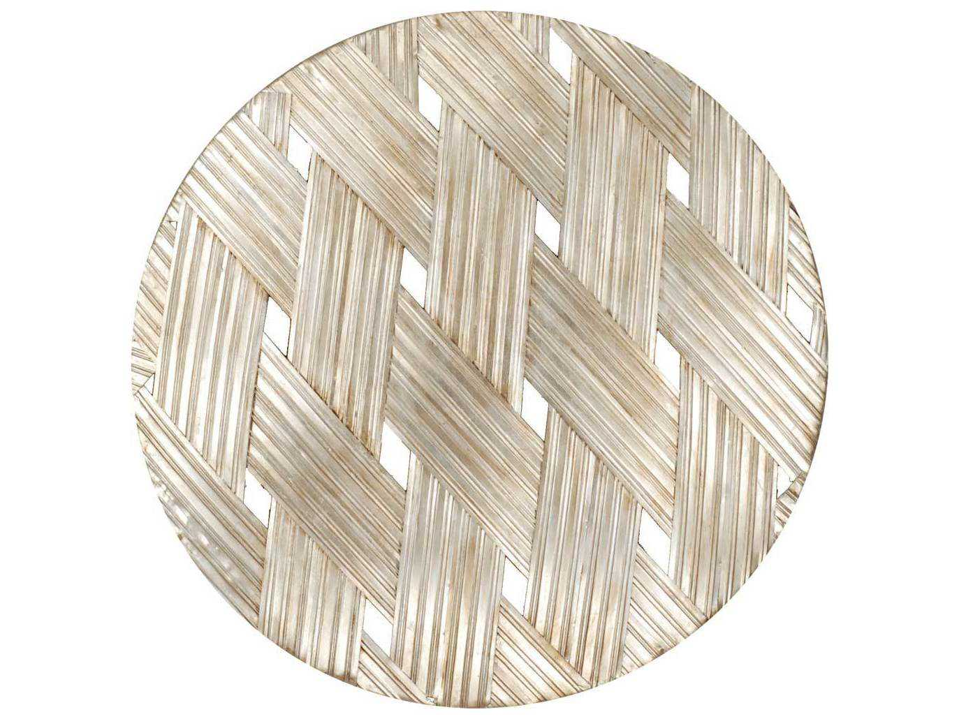 Gilded Round Wall Decor : Paragon woven aged gold round metal exclusive wall art