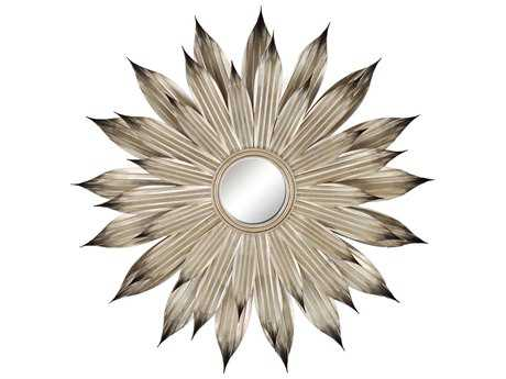 Paragon Silver Flower Petals 49'' Round Exclusive Wall Mirror