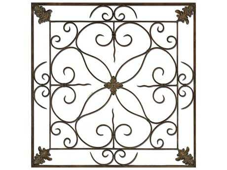 Paragon Aged Floral Panel Metal Wall Art