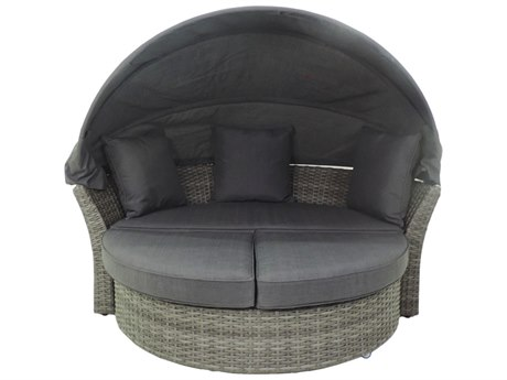 Patio Heaven Ethereal Austin Wicker Modular Canopy Daybed