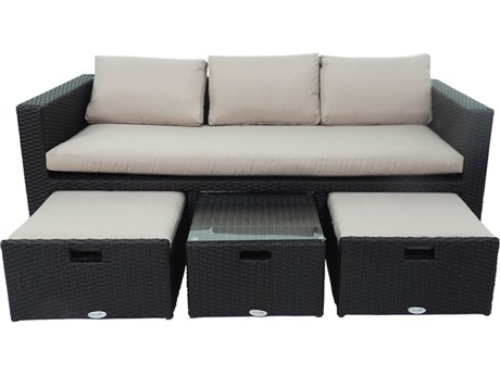 Patio Heaven Ethereal Birmingham Wicker Modular 4Signature - PalisadesPiece Sofa Set
