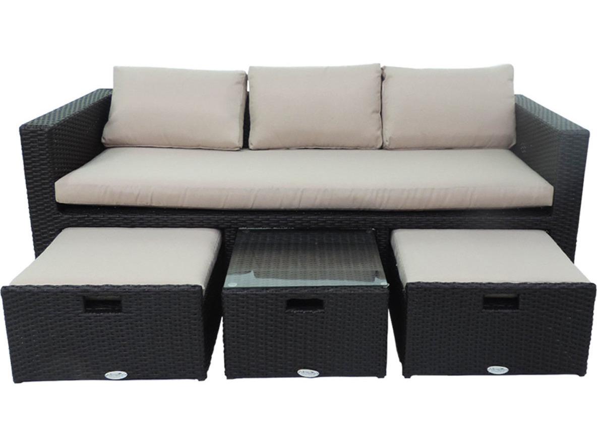 Fantastic Patio Heaven Ethereal Birmingham Wicker Modular 4Signature Palisadespiece Sofa Set Home Interior And Landscaping Ologienasavecom
