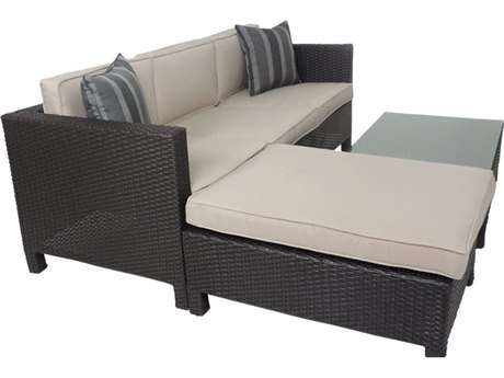 Patio Heaven Ethereal Marseilles Wicker 3Signature - PalisadesPiece Sectional Sofa Set