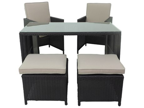 Patio Heaven Ethereal Monaco Wicker 5Signature - PalisadesPiece Dining Set