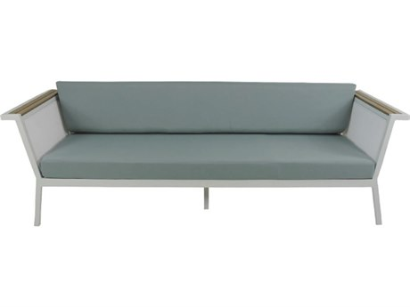 Patio Heaven Riviera Geo Sofa White