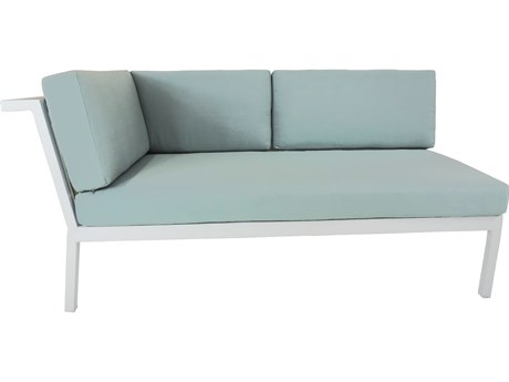 Patio Heaven Riviera Geo LAF Loveseat White
