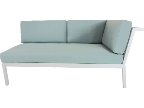 Patio Heaven Riviera Geo RAF Loveseat White