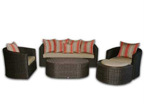 Patio Heaven Palomar Wicker Lounge Set